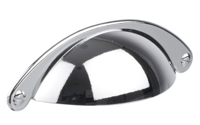 Polished Chrome 64mm Hole Centres Cup Handle Shaker Shell