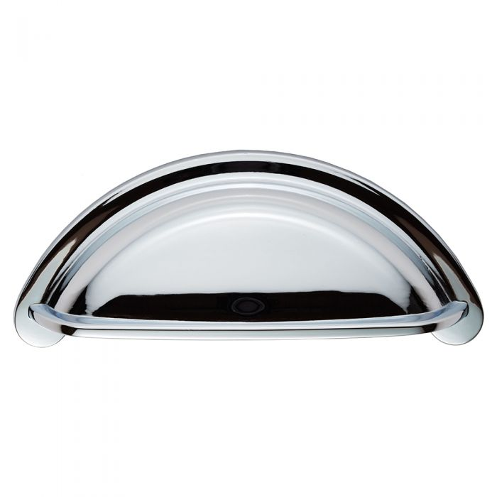 Polished Chrome 76mm Hole Centres Kitchen Cup Handle Ariel