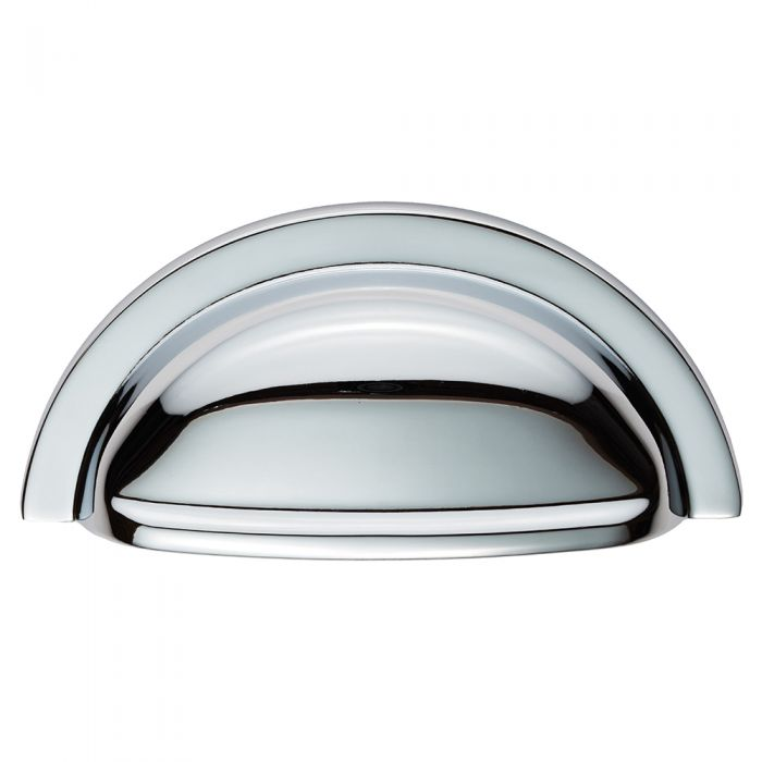 Polished Chrome 76mm Hole Centres Kitchen Cup Handle Henrietta